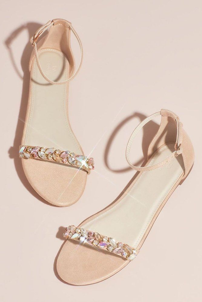 Lovely flats | Jeweled sandals, Cute shoes, Sandals