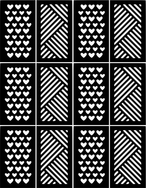 5 New Designs Nail Art Stencils Vinyl Decal Stickers Manicure ...