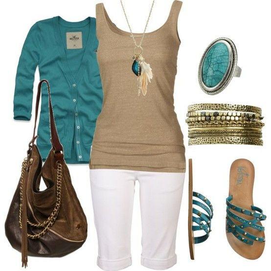 teal with neutrals