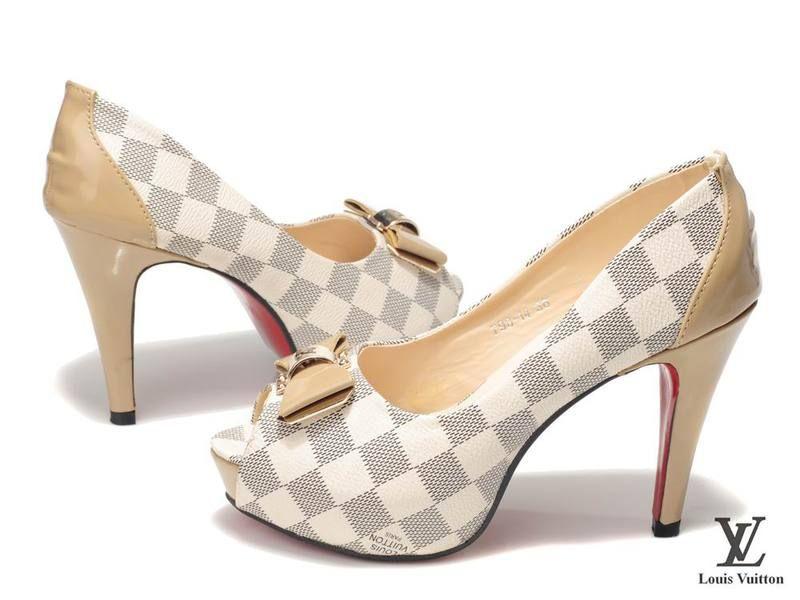d3affb1404d Louis Vuitton Damier Pumps Open Toe Shoes