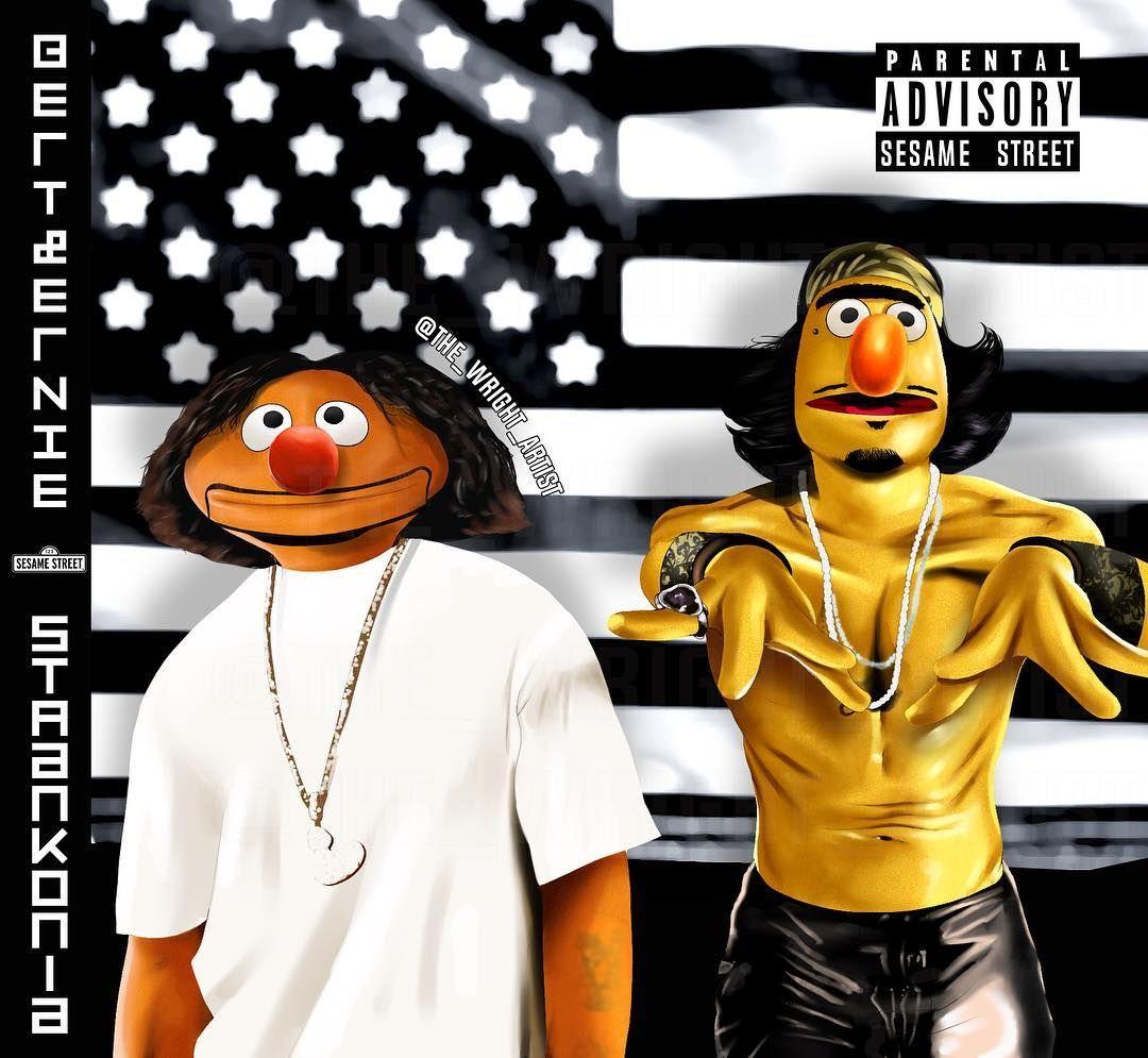 Ma A H W Ght On Instagram Outkast X Sesame Street Bert Ernie Like Comment Feedback Outkast Thereal Outkast Black Girl Cartoon Hip Hop Artwork