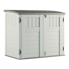 Vanilla Resin Outdoor Storage Shed Common 53 In X 32 25 In