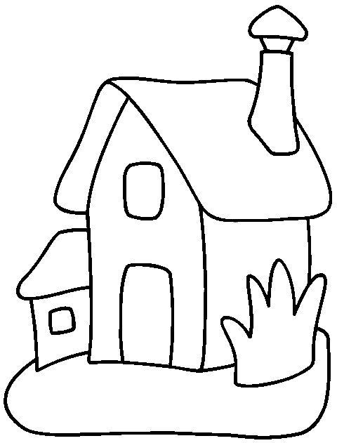 Hus Målarbilder för barn. Teckningar online till skriv ut