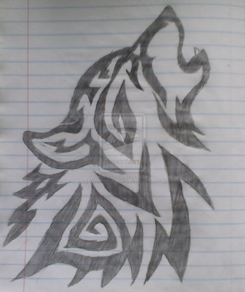 Just drawn this wolf today pintrist pinterest tribal for What to draw today