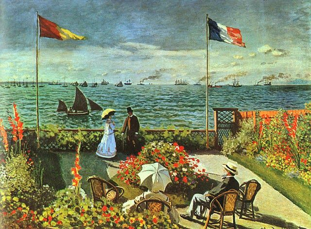 Claude Monet – Terrazza sul mare a Saint-Adresse | MANET- MONET ...