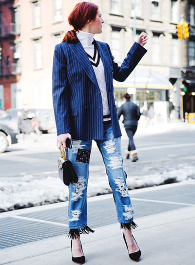 Via:LuckyMagazine The 50 Most Inspiring Street Style Moments Of 2014