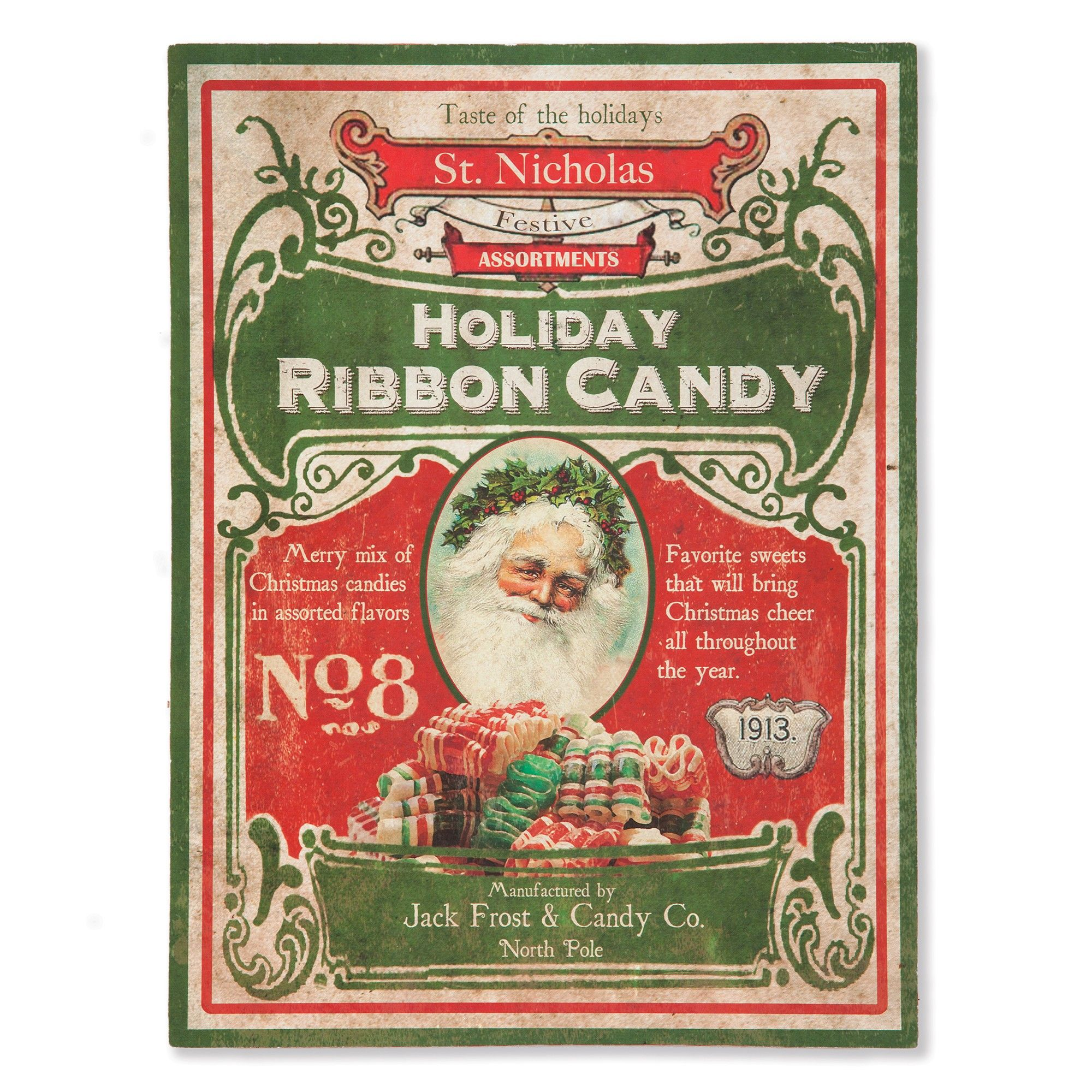 Sturbridge Yankee Workshop Christmas 2020 Ribbon Candy Tin Vintage Christmas Sign | Sturbridge Yankee