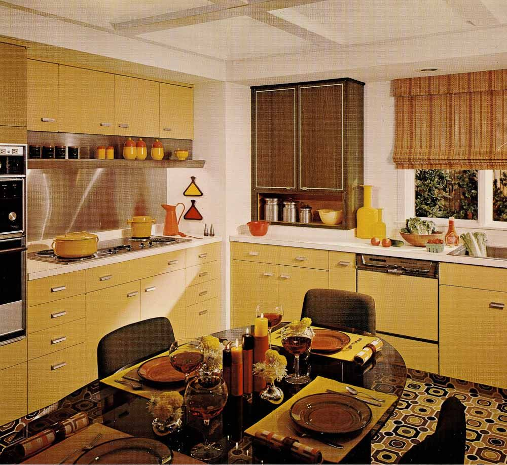 1970s kitchen design one harvest gold kitchen decorated in 6 distinct 70s styles retro renovation - 1970s Kitchen