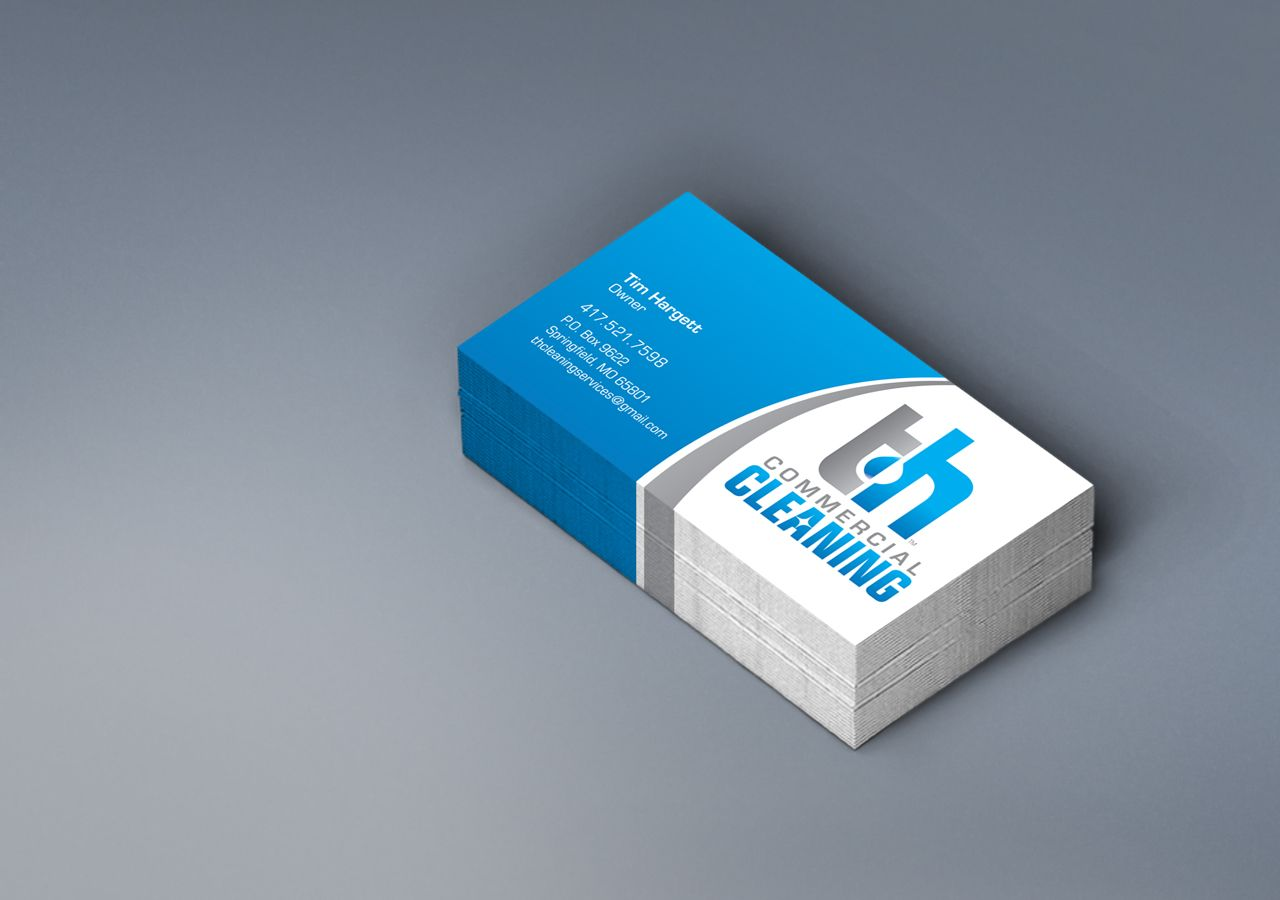 Kettle Fire Creative, TH Commercial Cleaning, Business Card, cleaner ...
