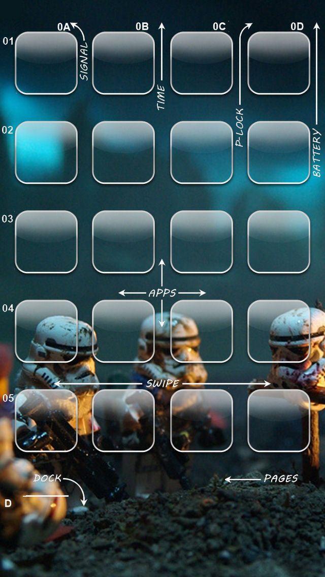 Star Wars iPhone 5 Icon Wallpaper