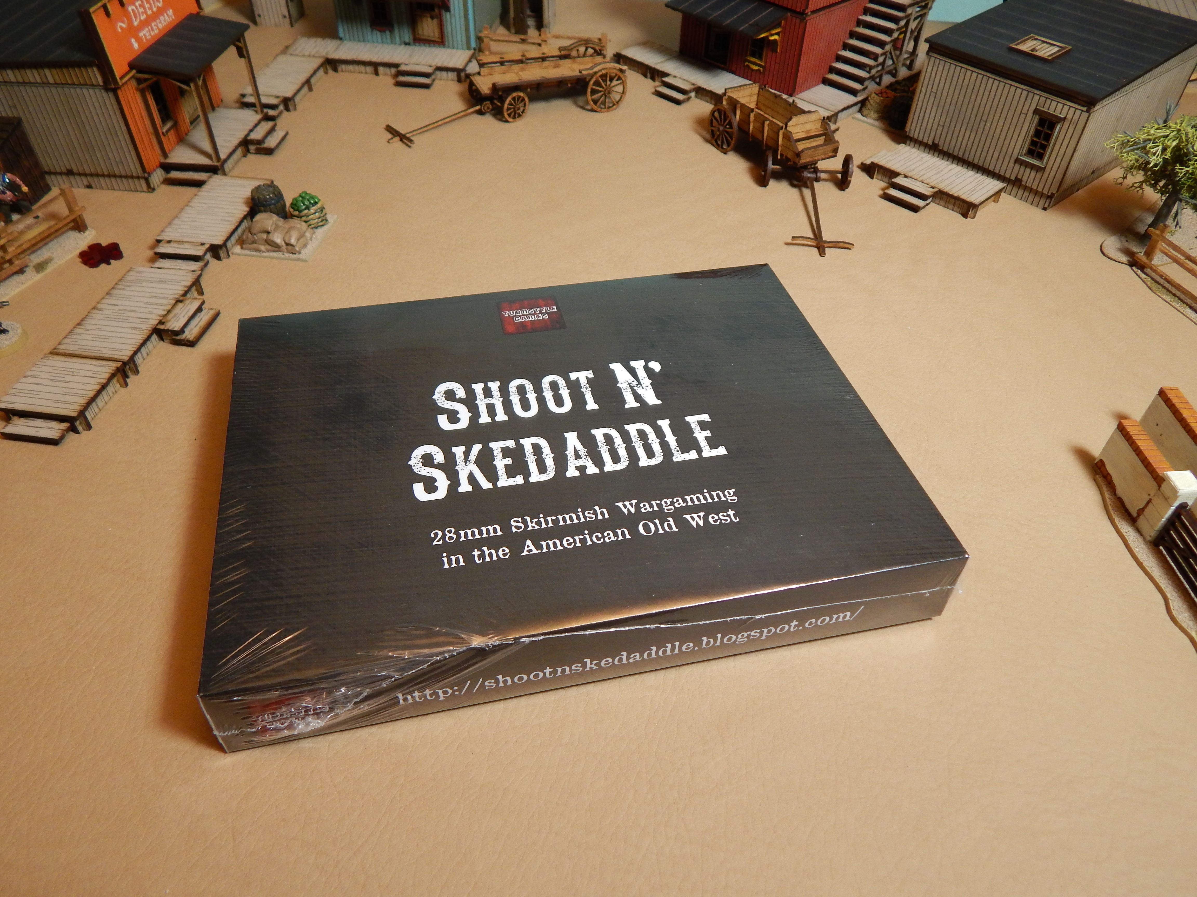 Shoot N' Skedaddle is a miniature wargaming rules set allowing