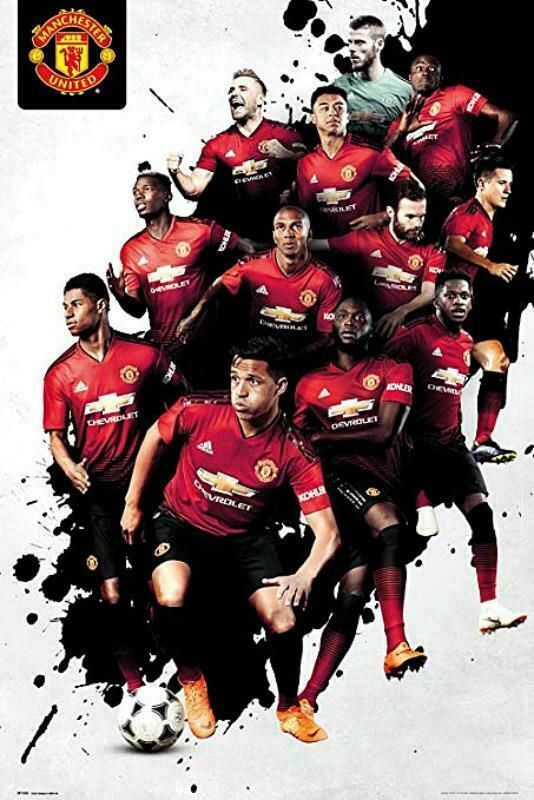 Get Nice Manchester United Wallpapers 2019 Manchester United Players 2018-2019 - Maxi Poster 61cm x 91.5cm new and sealed