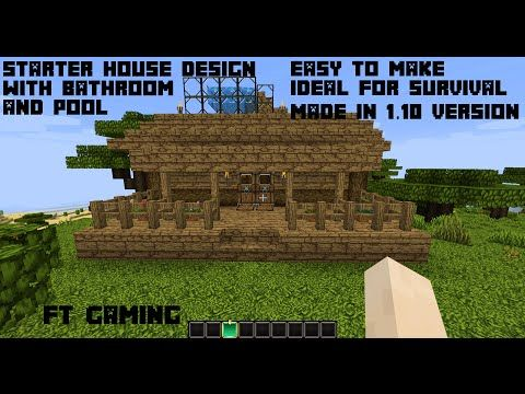 Minecraft 1.10 - House Starter Design with Pool and ...