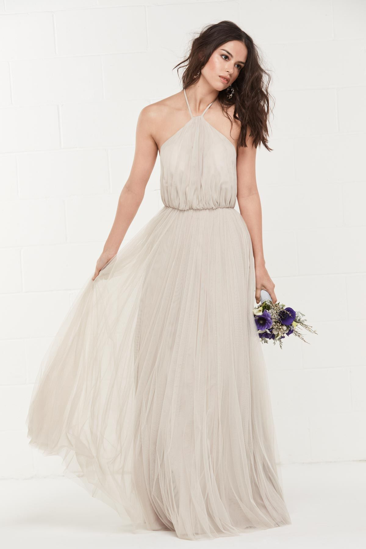 ff04de38c4e 440 Wtoo by Watters Bridesmaid Dress (latte) I like how this is airy and  how it flows. I also like the neckline. The color is also a nice neutral ( latte).