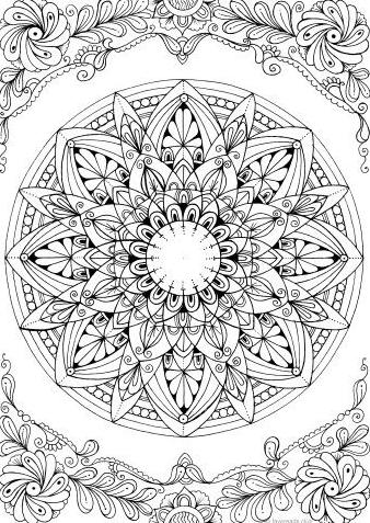 Beautiful Mandala Coloring Mandalas In 2020 Kolorowanki Kolorowanka Rysunek