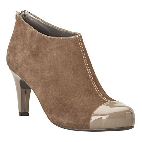 """Meet our new Anti-Gravity bootie, Deliz!  This heeled ankle bootie is lightweight and has a flexible outsole that offers comfort and traction.  Features a contrasting cap toe and back zipper for a secure and comfortable fit.  Heightened by a 3"""" heel.  Available in medium and wide and 3 great options!  A must-have for your wardrobe!  The Deliz has a 3"""" shaft and 12"""" circumference."""