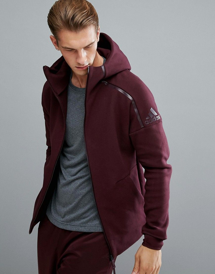 best cheap ed7a0 a3da8 ADIDAS ORIGINALS ADIDAS ATHLETICS ZNE 2 HOODIE IN BURGUNDY BQ6924 - RED.   adidasoriginals  cloth