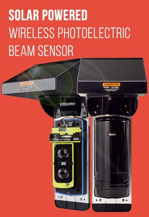 Solar Powered Photoelectric Beam For Perimeter Security System Solar Power Beams Solar