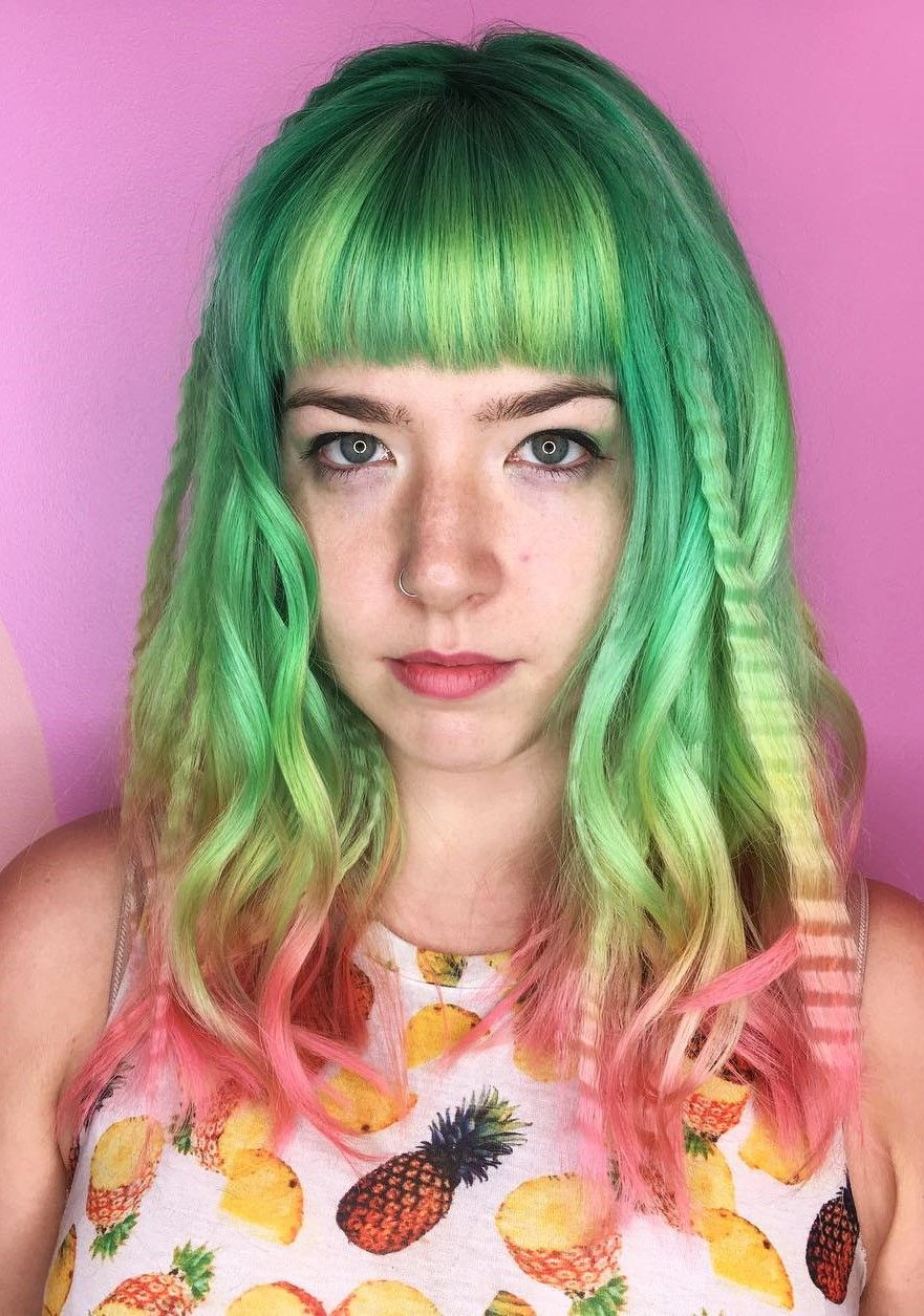 cute dyed haircuts to try right now haircuts hair coloring and