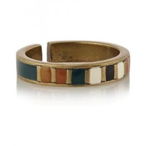 Isabel Marant Emerald Blondie Resin Ring - Brass - Sale