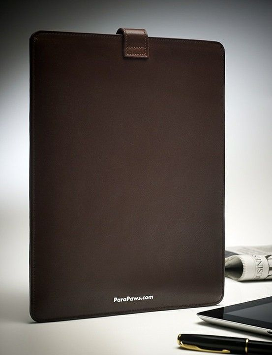 Leather iPad case. Cleans the screen in normal daily use. ParaPaws.com