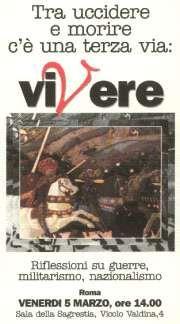 Riflessioni su guerra e militarismo - Roma, 5 marzo 1999