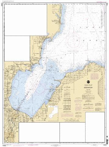 Free Saginaw Bay Maps | SAGINAW BAY MICHIGAN: Marine Chart