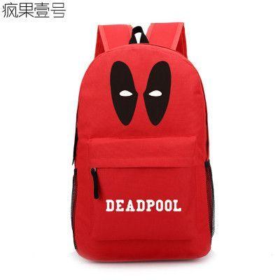 Girl boy student game Teenager Marca Mochila Escolar Deadpool backpack  marvel comics superheros shoulder school bag 9dacae388eda1