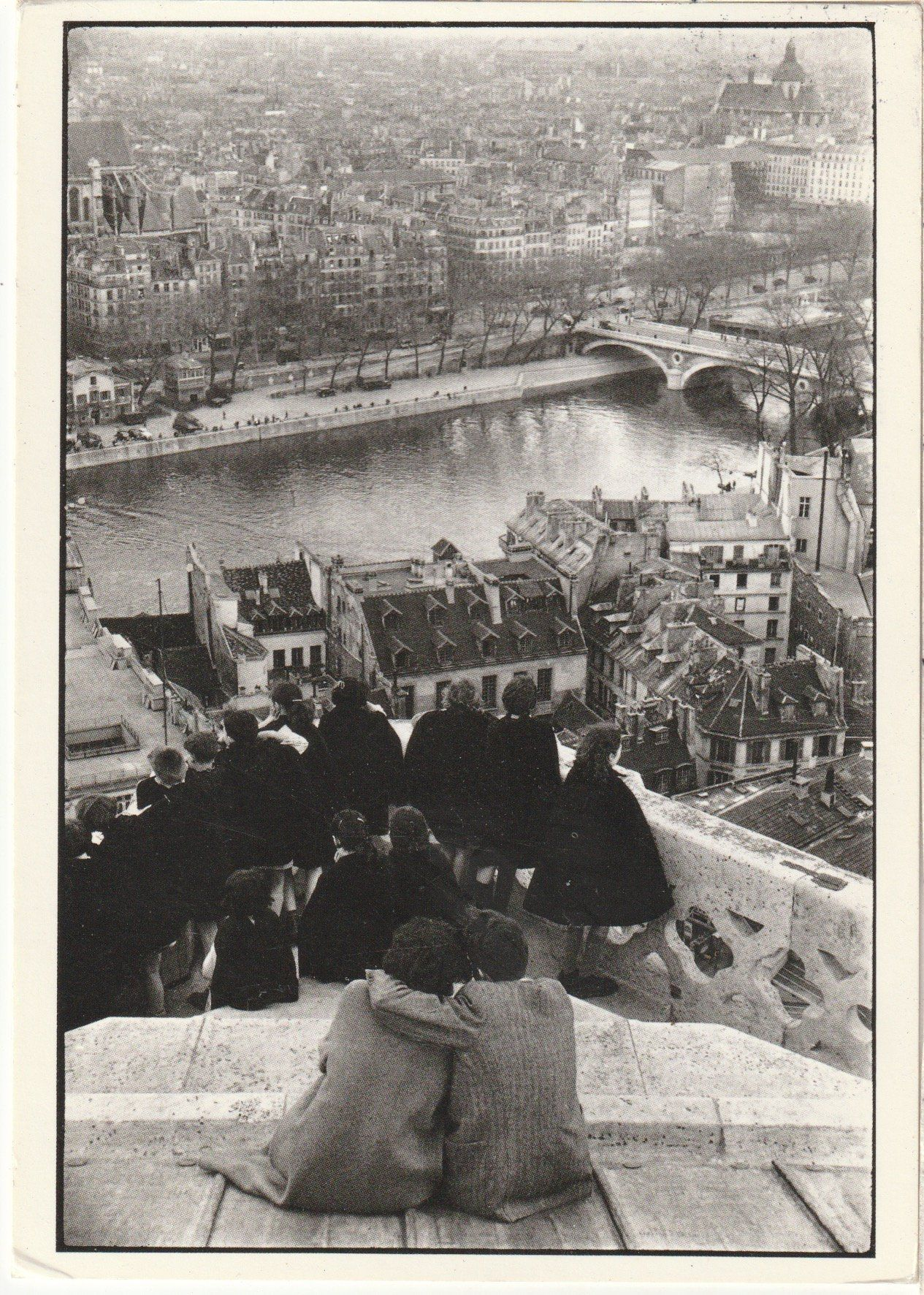 Vintage Postcard Full Back Used Black and White Photo Paris