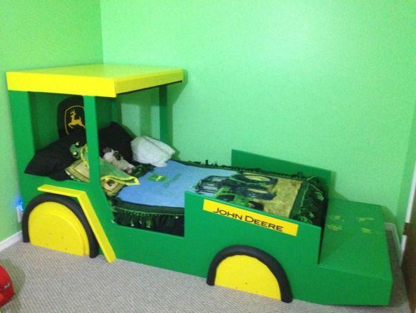 John Deere Bed Children Pinterest Lit Tracteur Tracteurs Et - John deere idees de decoration de chambre