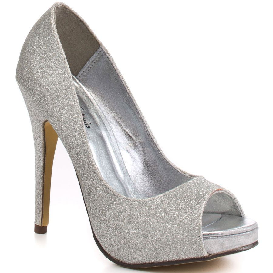 Wedding Dsw Wedding Shoes keme silver glitter pu pumps peeps and pump pu