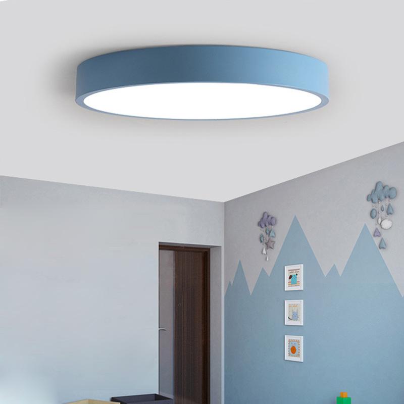 Led Deckenleuchte Modern Rund In Macarons Farbe Fur Schlafzimmer