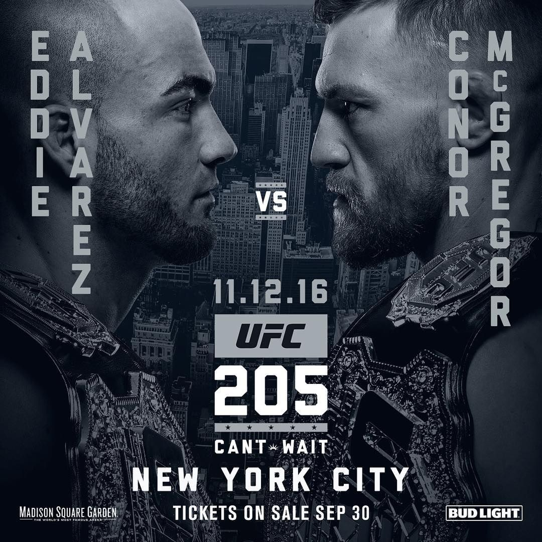 We Have A Main Event For Ufc205 In New York City The Champ Eddie Alvarez Takes On Conor The Notorious Mcgregor For The 155lb Strap Ufc Ufc Events Ufc Live