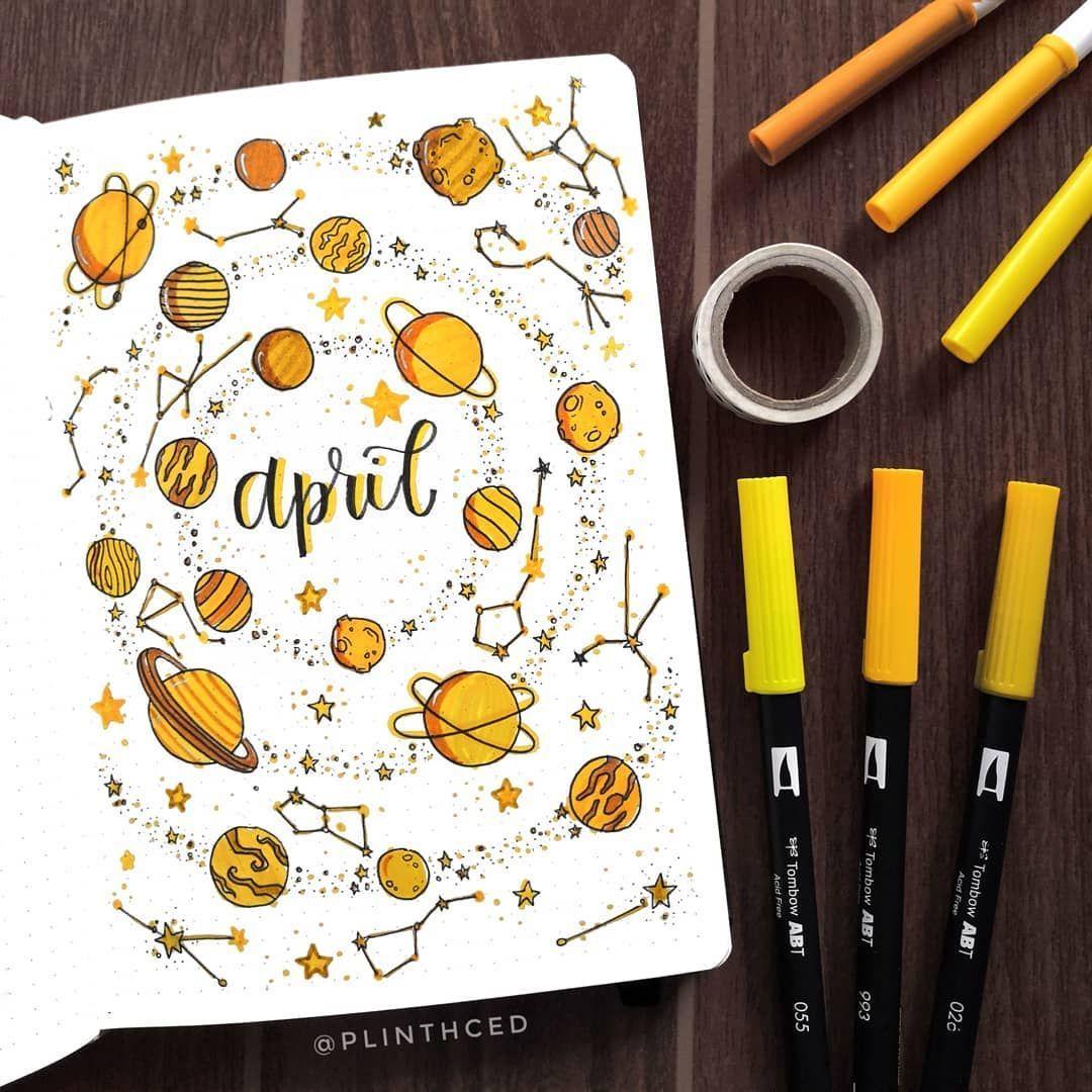 Bullet Journal Month, April Bullet Journal