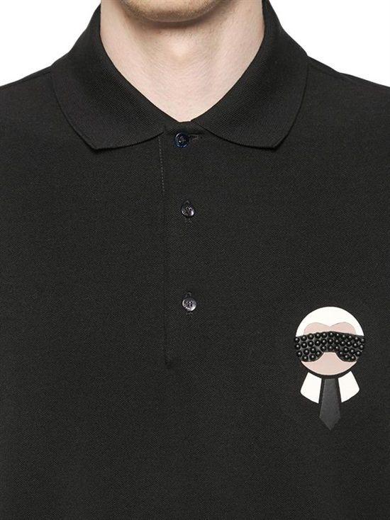 0c7a92e9 fendi - men - polos - karl patched cotton piqué polo shirt | Nice ...
