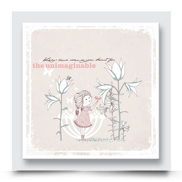 THE LILY PICKER canvas artwork for a girls nursery or bedroom will add life to their walls. This sweet design can also be personalised with your child's name. Order your wall art at http://www.madicleo.com/collections/wall-art-for-girls-rooms