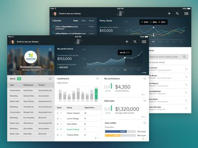 Insurance Agent Dashboard Continued Dashboard Design Insurance Agent Insurance