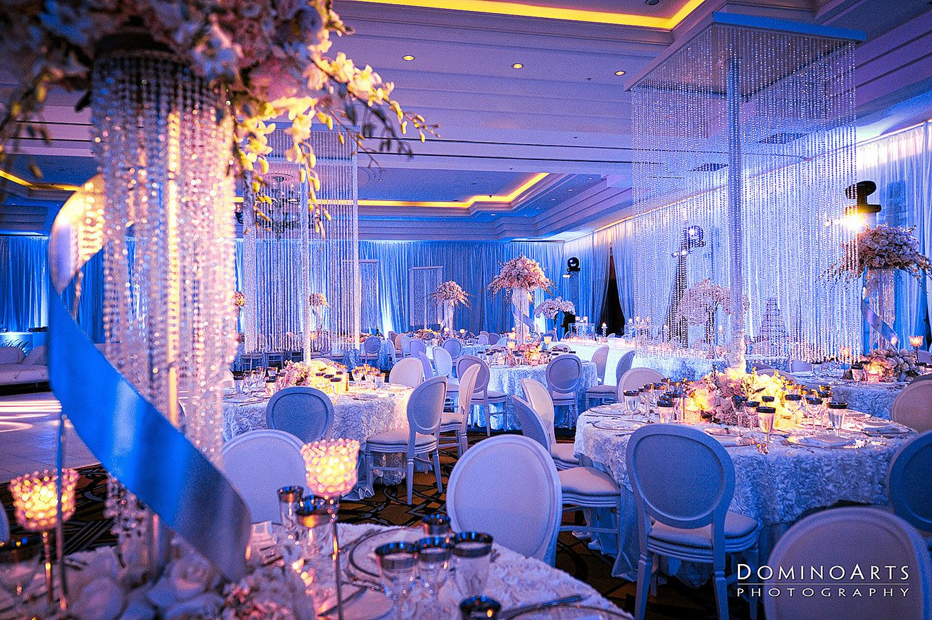 Wedding reception room weddings ideas pinterest weddingideas dare to dream qual quest tiffany blue and purple wedding decorations junglespirit