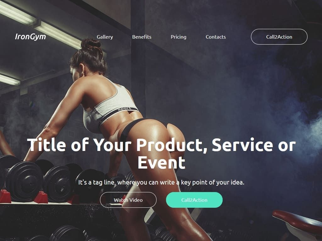 IronGym / Лендинг / Шаблоны Bootstrap | BootstrapТема