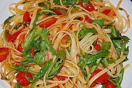 Pasta mit Tomaten und Rucola von zartgebaeck | Chefkoch