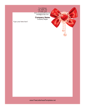 Perfect for romantic letters this printable Valentines Day