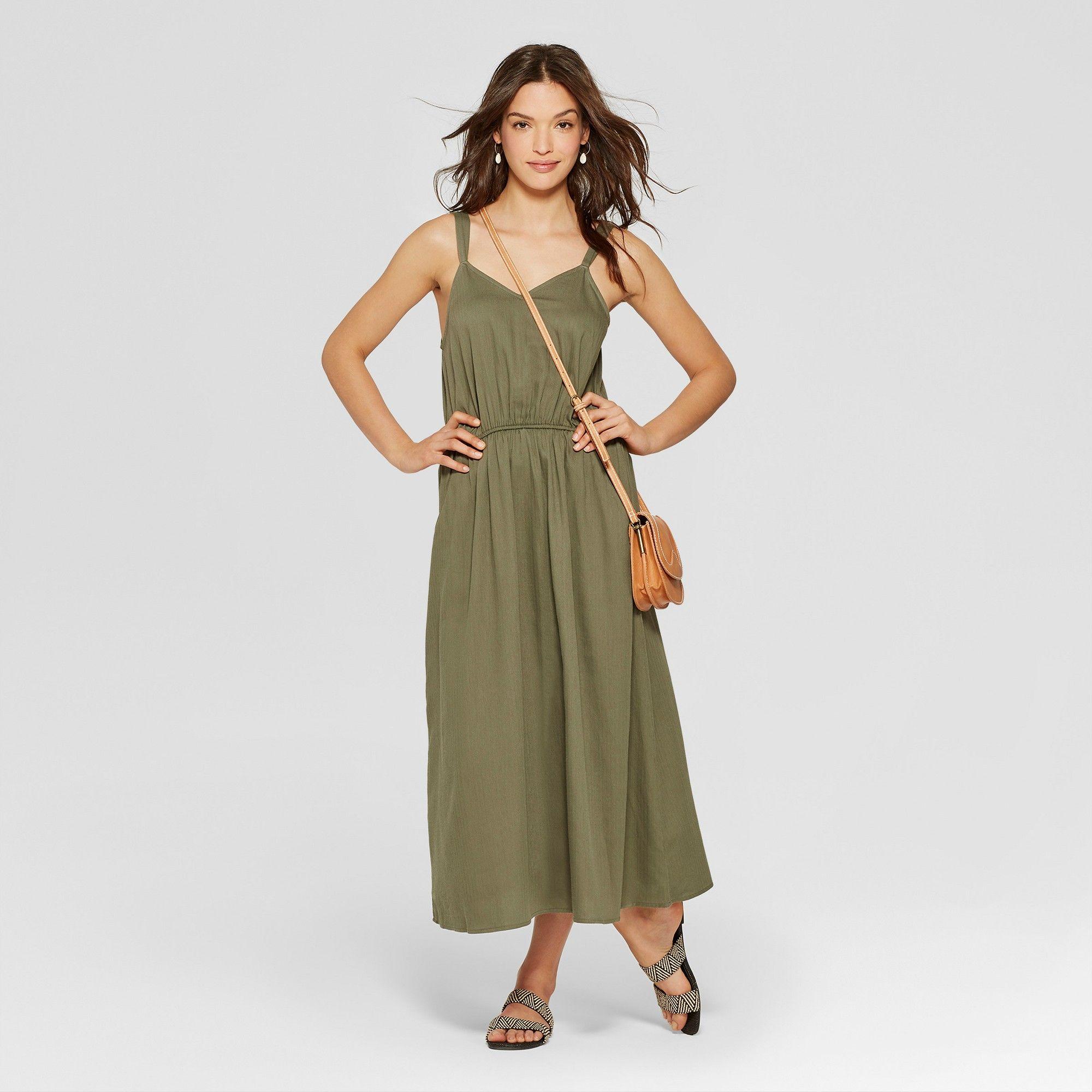 4f3c0d2aaf129 Women's Maxi Dress - Universal Thread Olive (Green) Xxl | Products ...