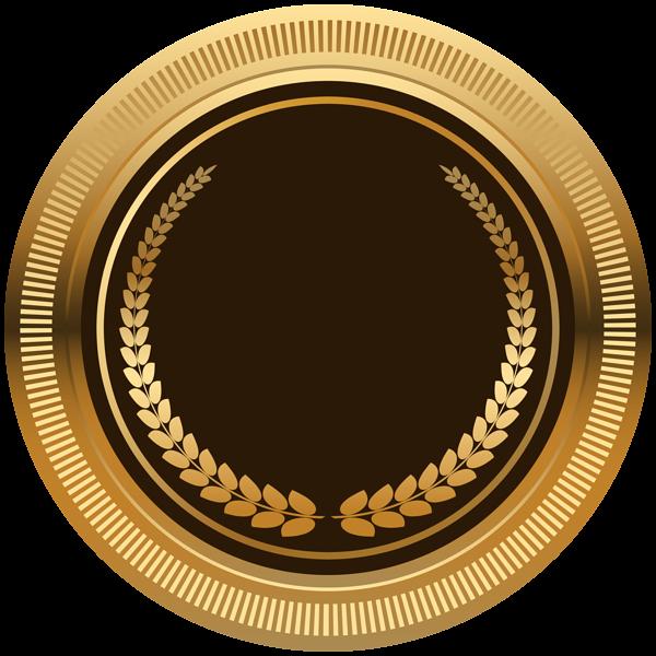 Brown Gold Seal Badge Png Transparent Image Logo Design Art Certificate Design Template Banner Clip Art