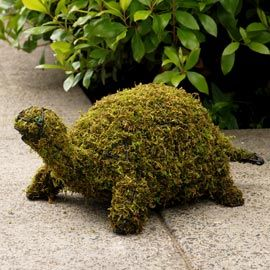 "Mossy Animal Topiary. Instantly perk up your yard or patio with this garden ""sculpture."" Comes pre-packed with planting moss...No trimming needed!"
