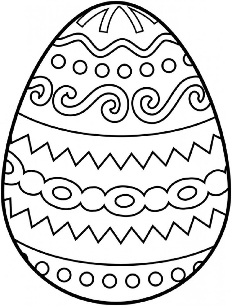 Blank Easter Egg Template Free See The Category To Find More