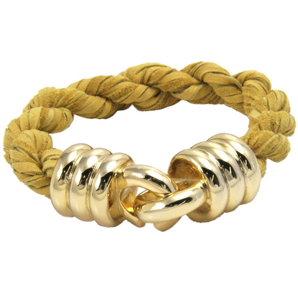 Marigold Leather Rope Bracelet