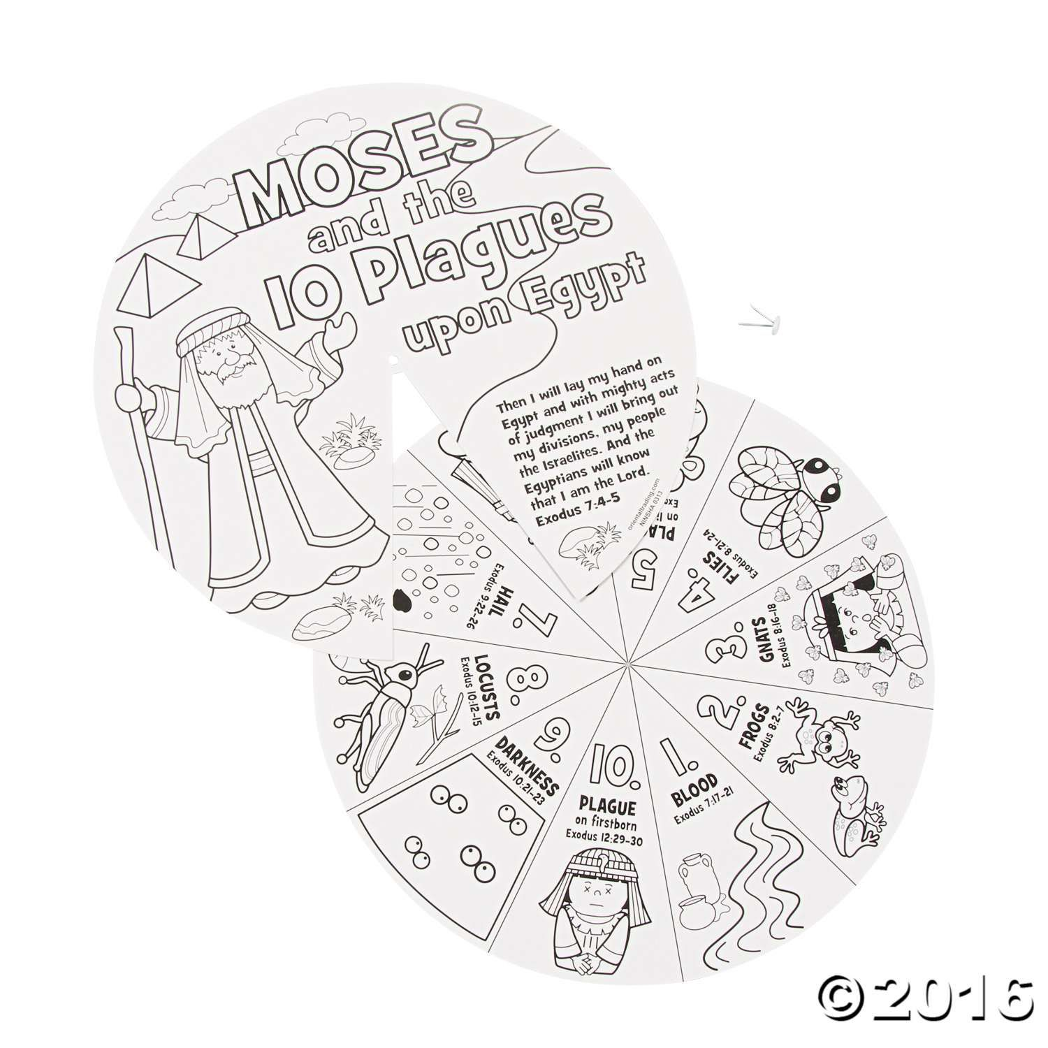 Color Your Own Moses Amp The 10 Plagues Wheels Con Imagenes