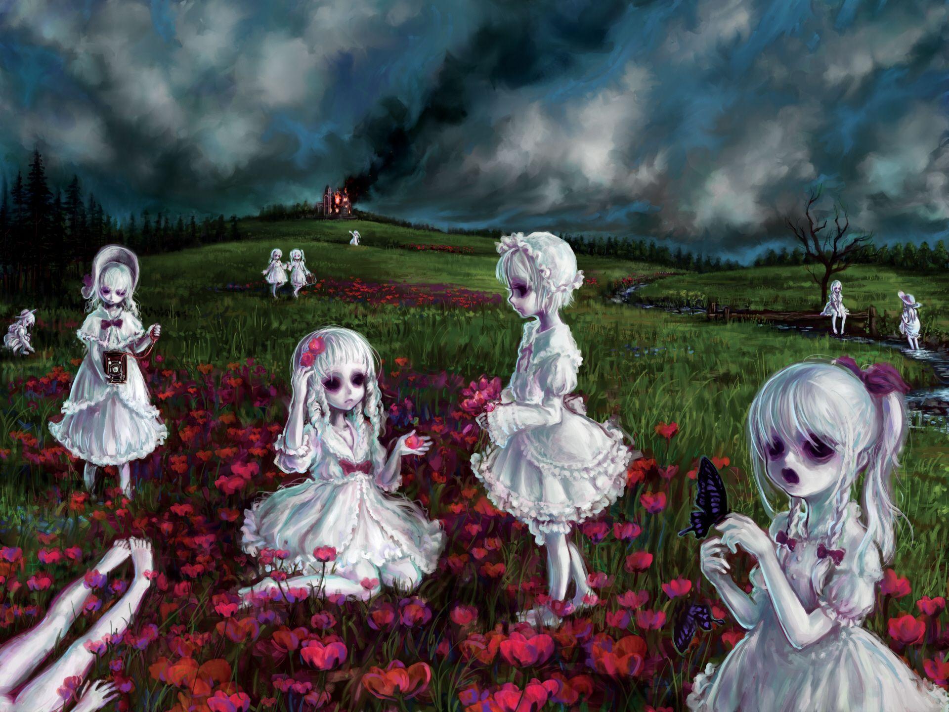 Little Zombie Girls Zombie Wallpaper Creepy Images Creepy Art