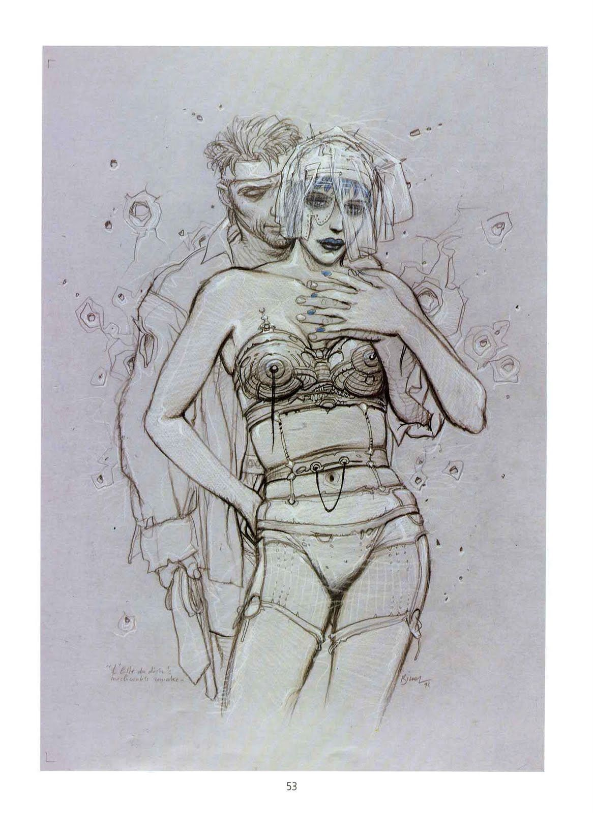 ... ou en noir et blanc  (drawing from Enki Bilal)