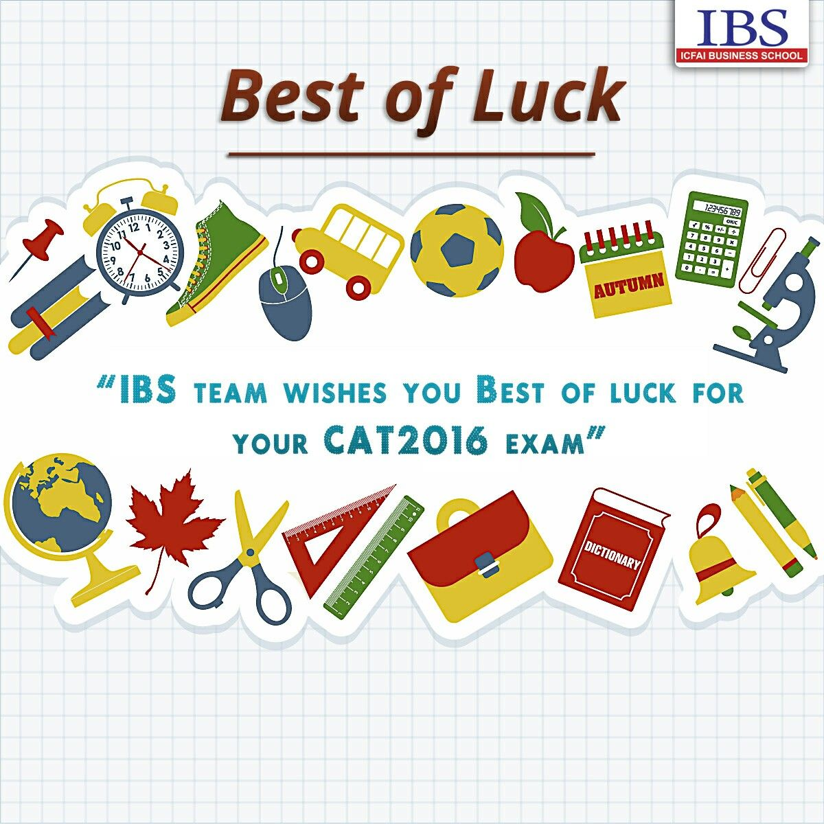 ibs wishes you best of luck for your cat exam